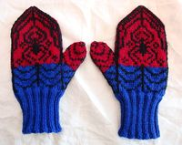 Possessed to Knit: Spiderman Mittens Completed
